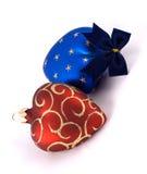 Christmas balls (heard). Christmas balls isolated on a white Stock Photos