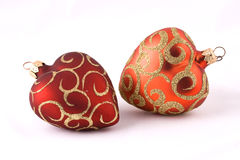 Christmas balls (heard). Christmas balls isolated on a white Stock Image