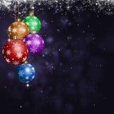 Christmas Balls Holiday Greeting Card Royalty Free Stock Photos