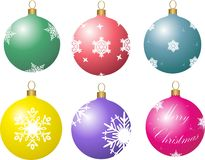 Christmas balls. The сhristmas balls  is vector illustration Royalty Free Stock Images