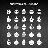 Christmas Balls Icons. For web design and application interface, also useful for infographics. Vector illustration stock illustration