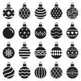 Christmas balls icons. Vector illustration. royalty free illustration