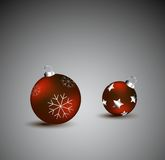 Christmas balls  illustration Royalty Free Stock Photos