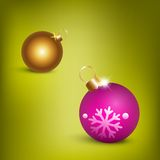 Christmas balls  illustration. (eps 10 Stock Photo