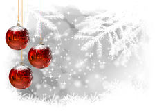 Christmas Balls illustration of Christmas Card Royalty Free Stock Photo