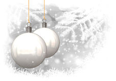Christmas Balls Illustration Of Christmas Card Royalty Free Stock Photos