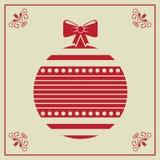 Christmas balls. Illustration of Christmas balls over beige background vector illustration Stock Photos