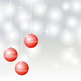 Christmas balls with inscription merry christmas Royalty Free Stock Photo