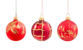 Christmas balls on isolated Royalty Free Stock Photography