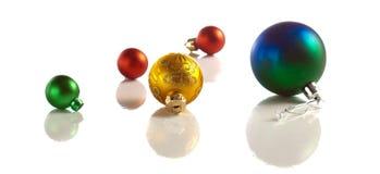 Christmas balls isolated Royalty Free Stock Image
