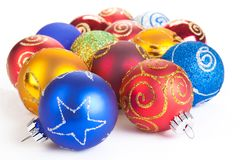 Christmas balls, isolated Stock Image