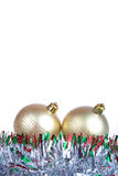 Christmas balls isolated Royalty Free Stock Photos