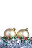 Christmas balls isolated Royalty Free Stock Photos