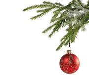 Christmas balls isolated on the background Stock Photo