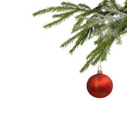 Christmas balls isolated on the background Royalty Free Stock Photos