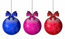Christmas balls isolated over the white Royalty Free Stock Photos