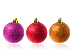 Christmas balls - isolated Stock Image