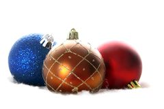 Christmas balls isolated on white. The christmas balls isolated on white Royalty Free Stock Images