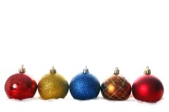 Christmas balls isolated on white. The christmas balls isolated on white Royalty Free Stock Image