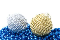 Christmas balls isolated on white background Royalty Free Stock Photos