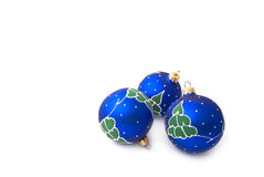Christmas balls isolated on white background.  Royalty Free Stock Image