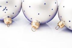 Christmas balls isolated on white background.  Stock Photo