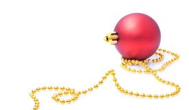 Christmas balls isolated on white background Stock Photos