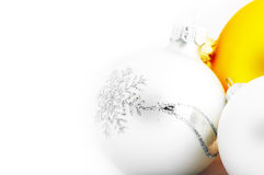 Christmas balls isolated on white background Stock Images