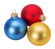 Christmas balls isolated on the white background royalty free stock photo