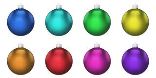 Christmas balls. On isolated white background Royalty Free Stock Photography
