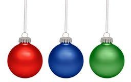 Christmas balls isolated on white background Stock Photos