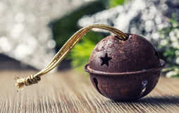 Christmas balls jingle bells stars decorations. Xmas time Royalty Free Stock Images
