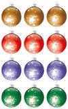 Christmas balls kit Stock Photos
