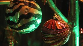 Christmas balls stock video footage