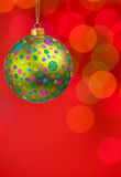 Christmas balls and lights Royalty Free Stock Image