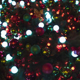 Christmas balls and lights on Christmas Tree Royalty Free Stock Images