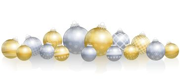 Free Christmas Balls Loosely Arranged Gold Silver Royalty Free Stock Photos - 101560748