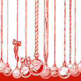 Christmas balls made of snowflakes Royalty Free Stock Photography