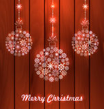 Christmas Balls Made of Snowflakes for Merry Royalty Free Stock Photo
