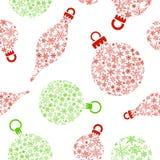 Christmas balls made of snowflakes Royalty Free Stock Photos