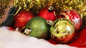 Christmas balls. Merry christmas card. Winter xmas theme. Stock Image