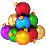 Christmas balls multicolored (Hi-Res) stock photography