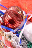 Christmas balls, new year decoration with pearls Stock Image