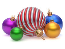 Christmas balls New Year's Eve adornment decoration colorful Royalty Free Stock Image