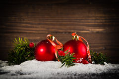 Christmas balls on New Year's Eve Stock Photography