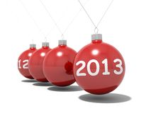 Christmas balls new years eve. Christmas balls new year's eve Newton pendulum 2012 - 2013 Stock Photo