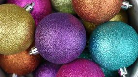 Christmas balls. A number of colorful Chrismas balls Royalty Free Stock Photos