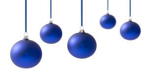 Christmas Balls On White Stock Images