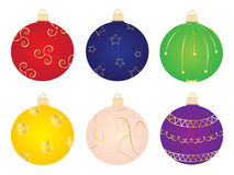 Christmas Balls Ornament Vector Collection Royalty Free Stock Photo