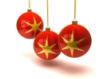 Christmas balls and ornaments Royalty Free Stock Photo